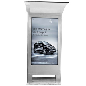 Digitale Outdoor Info-Stele 55""