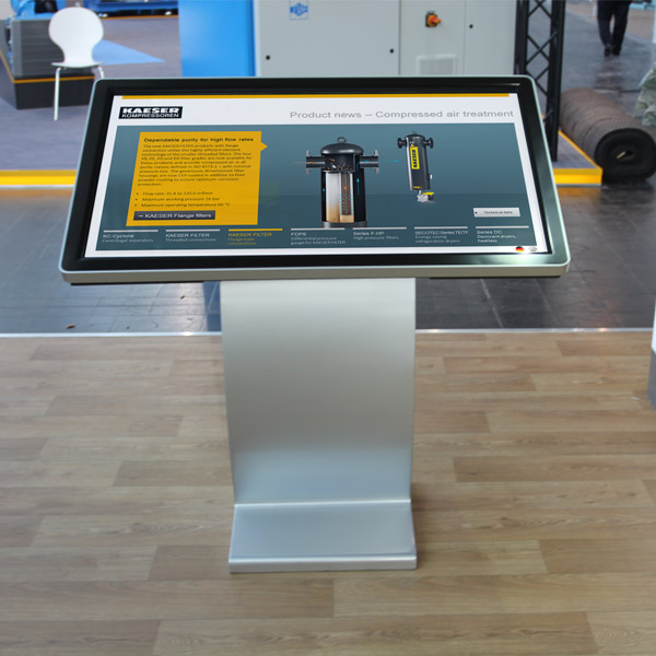 Digitaler Touch-Table auf Hannover Messe